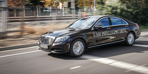 Mercedes Benz S500 Autonomous Driving Demo