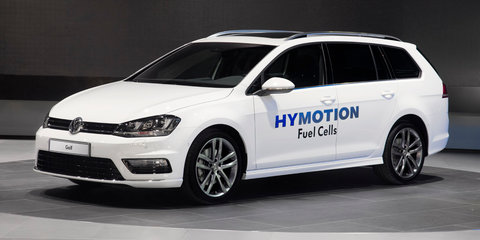 Volkswagen Golf Wagon HyMotion concept previews hydrogen-powered small car