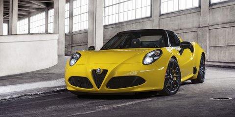 Alfa Romeo 4C Spider revealed at 2015 Detroit auto show