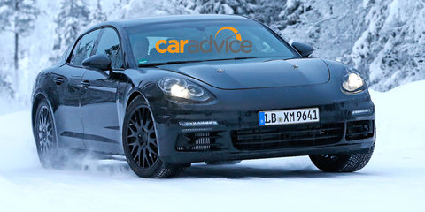 2016 Porsche Panamera : Sleeker second-gen sedan spied in the snow