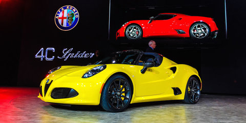 Alfa Romeo 4C Spider First Look : NAIAS Detroit Motor Show 2015