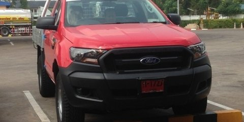 2015 Ford Ranger facelift spied again in Thailand