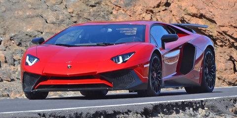 Lamborghini Aventador SV caught on photo shoot