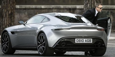 Aston Martin DB10 spotted in Rome during filming of latest James Bond film Spectre