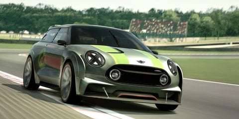 Mini Clubman Vision Gran Turismo: tough-looking digital concept joins virtual racing world