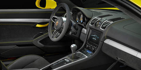 Porsche Cayman GT4 uncovered