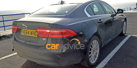Jaguar XE E-Performance diesel spied with new blue E badge
