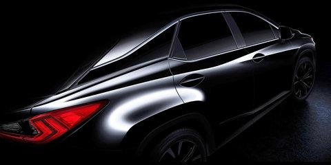 Lexus RX teased ahead of New York debut