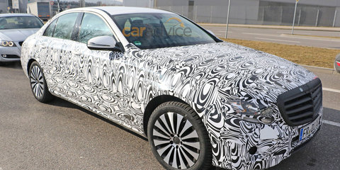 2016 Mercedes-Benz E-Class spied without body cladding