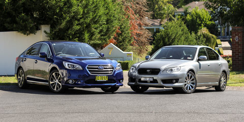 Subaru Liberty Old v New Comparison: Fourth-generation 3.0R v sixth-gen 3.6R