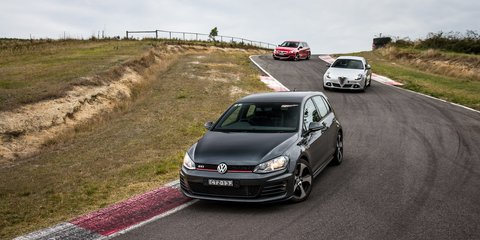 Five-door hot-hatch comparison : Volkswagen Golf GTI v Peugeot 308 GT v Alfa Romeo Giulietta QV
