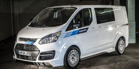 Ford Transit Custom M-Sport van mimics Fiesta rally car