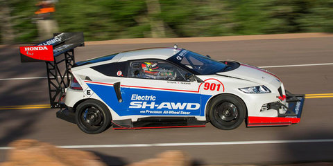 Honda CR-Z with all-electric AWD drivetrain to race up Pikes Peak
