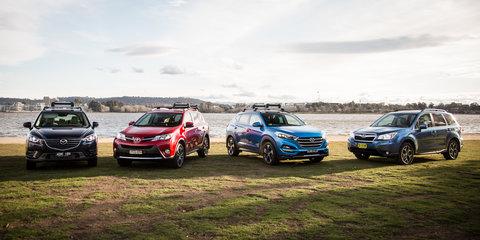 Hyundai Tucson v Mazda CX-5 v Subaru Forester v Toyota RAV4: Medium Diesel SUV comparison
