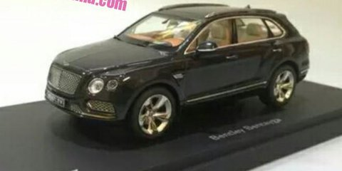 Bentley Bentayga SUV 'revealed': scale model showcases styling details