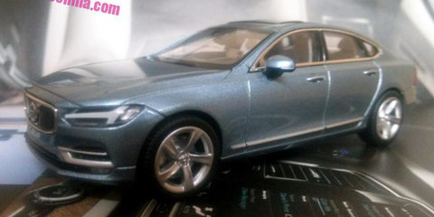 2016 Volvo S90 sedan revealed in scale-model form - UPDATE