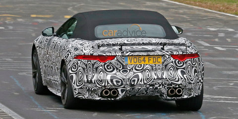Jaguar F-Type SVR convertible spy photos