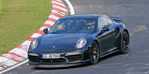 2016 Porsche 911 Turbo S facelift spied undisguised