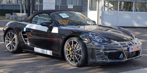 2016 Porsche Boxster facelift spied, will have turbo flat-four engines - report
