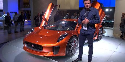 Jaguar C-X75 fromJames Bond 007 Spectre Walkaround : 2015 Frankfurt Motor Show