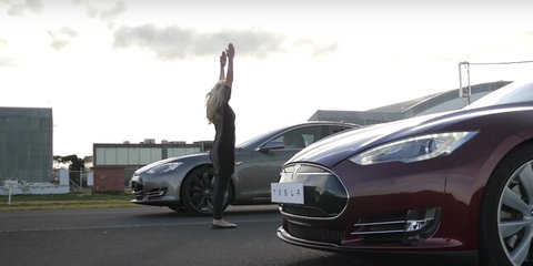 Tesla Model S P85D v Model S P85+ Drag Race