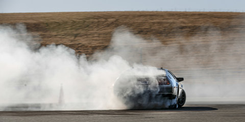 Stanford University's DeLorean rips autonomous donuts... for safety - video