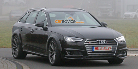 Audi RS4 Avant mule spy photos