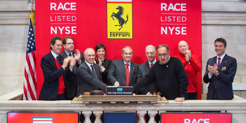 Ferrari lists on the New York Stock Exchange