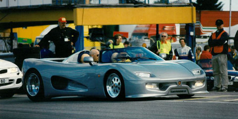 Koenigsegg revisits its original 1996 prototype vehicle