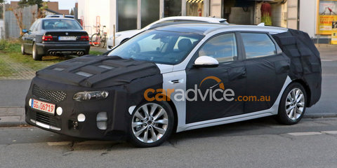 2017 Kia Optima Sportspace wagon spied testing in final body