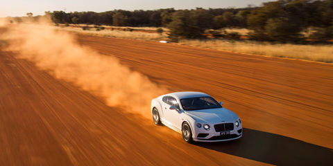 Bentley Continental GT Speed hits v-max of 331km/h in the Northern Territory