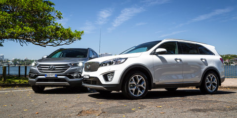 Hyundai Santa Fe Highlander v Kia Sorento Platinum : Comparison Review