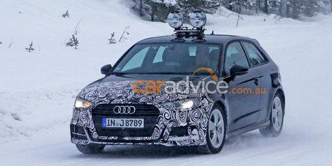2016 Audi A3 hatchback facelift spy photos