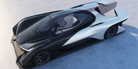 Faraday Future FFZERO1 concept unveiled at CES 2016, EV platform detailed