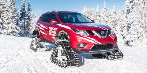 Nissan Rogue Warrior tackles ski slopes with track conversion