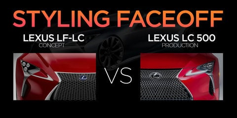 Lexus LC500 vs Lexus LF-LC Concept: Styling Faceoff