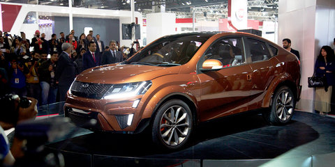 Mahindra XUV Aero Concept revealed at 2016 Delhi Motor Show