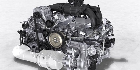 Porsche 718 Boxster four-cylinder engines in detail