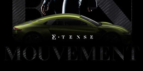 DS E-Tense coupe concept previewed ahead of Geneva motor show