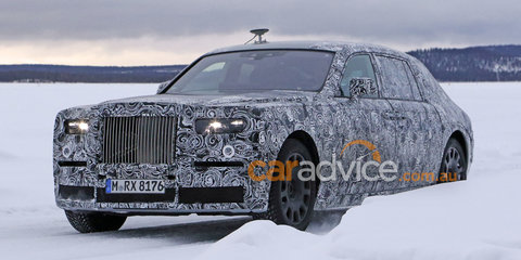 2017 Rolls-Royce Phantom spy photos