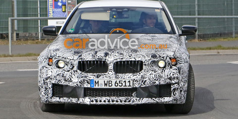 2017 BMW M5 spied testing in light camouflage