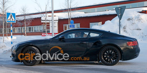 2017 Bentley Continental GT spied during cold weather testing