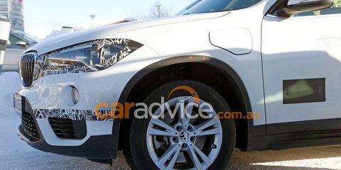 2017 BMW X1 plug-in hybrid spied testing