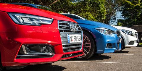 Audi A4 2.0 TFSI quattro v BMW 330i v Mercedes-Benz C250 Comparison
