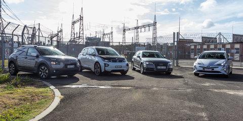 Audi A3 e-tron v BMW i3 v Citroen C4 Cactus v Toyota Prius: Economy comparison test part one