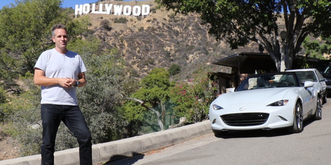 Driving Mulholland - exploring Mulholland Drive in a Mazda MX-5