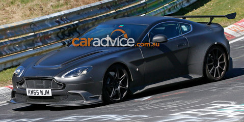 2016 Aston Martin Vantage GT8 spied testing at the Nurburgring