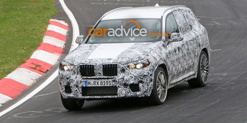 2017 BMW X3 M or M Performance spied at the Nurburgring