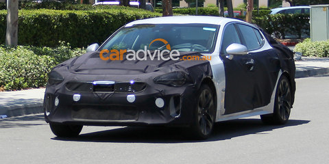 2017 Kia GT sports sedan spied testing