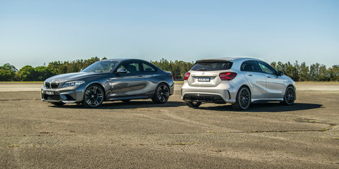Audi RS3 v BMW M2 v Mercedes-AMG A45 Comparison: Track Test